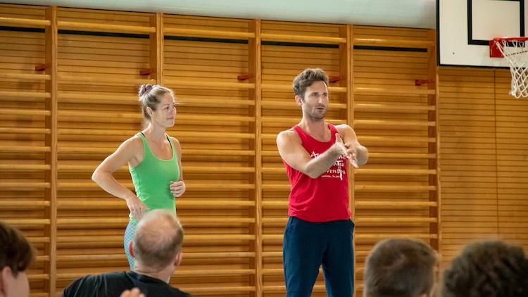 Jacob and Debbie teaching
