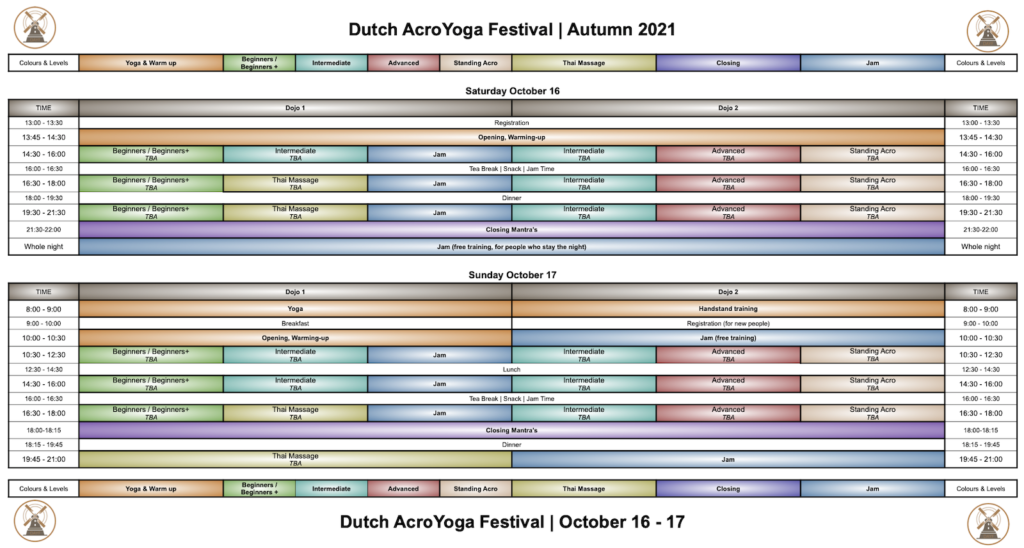 DAYF Autumn 2021 Scedule